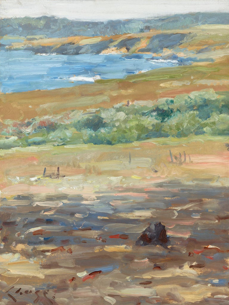 William Merritt Chase Landscape Painting - Coastal Landscape, California (Carmel-by-the-Sea)