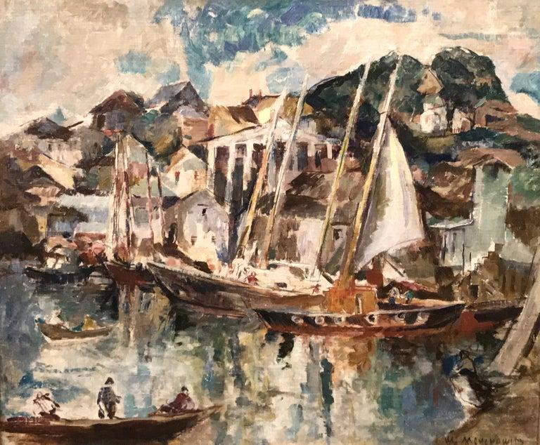 Gloucester - Painting by William Meyerowitz