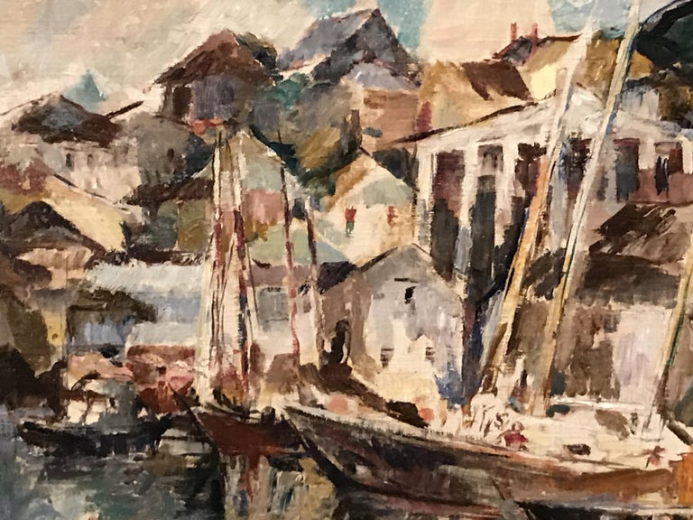 Gloucester - American Impressionist Painting by William Meyerowitz