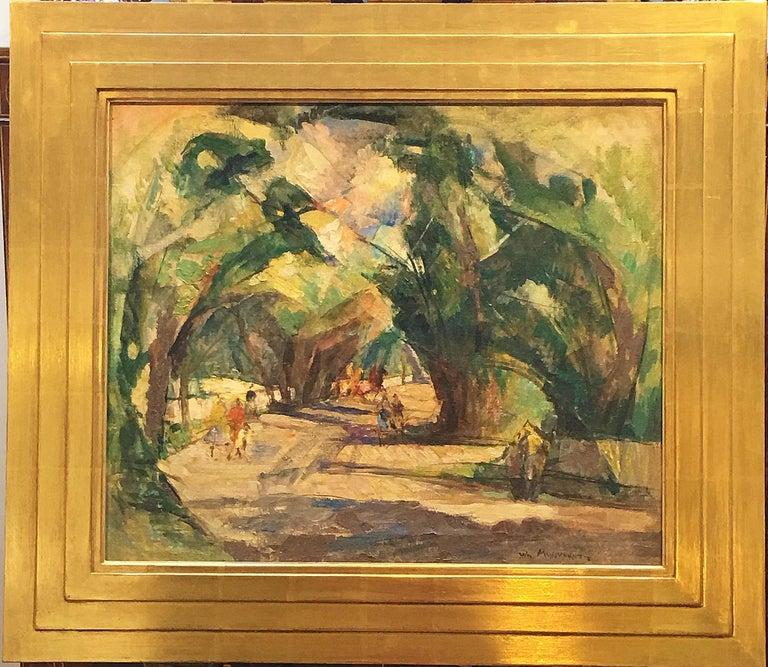 Shady Lane - Painting by William Meyerowitz