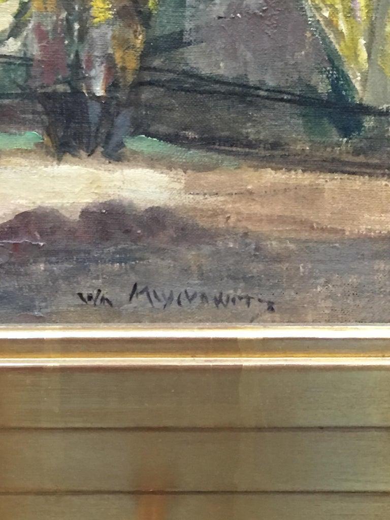 Shady Lane - Impressionist Painting by William Meyerowitz