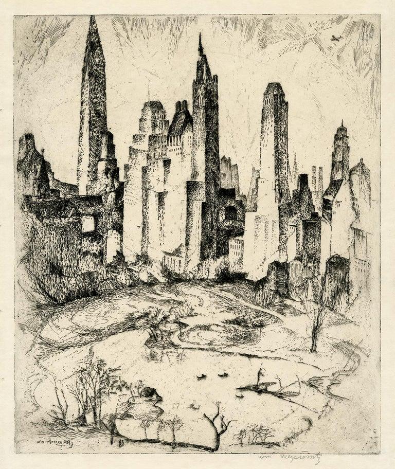 William Meyerowitz Landscape Print - New York, Central Park