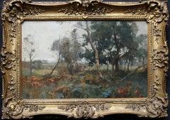 Blairgowrie Scotland - Scottish art 19thC Impressionist landscape oil painting