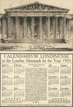 William Monk (1863-1937) - 1935 Etching, British Museum, Calendarium Londinense