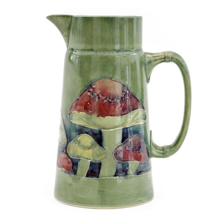 William Moorcroft Rare Claremont Mushroom Design Art Pottery Jug Dated 1914 For Sale 3