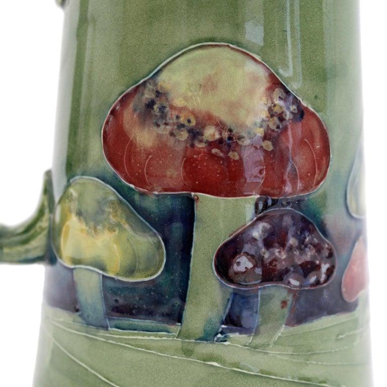 William Moorcroft Rare Claremont Mushroom Design Art Pottery Jug Dated 1914 In Good Condition For Sale In Bishop's Stortford, Hertfordshire