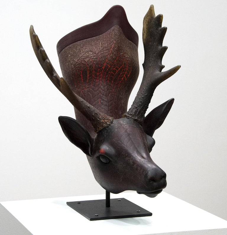 Fallow Deer Situla - Sculpture by William Morris