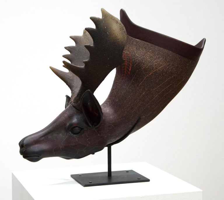 Fallow Deer Situla - American Modern Sculpture by William Morris