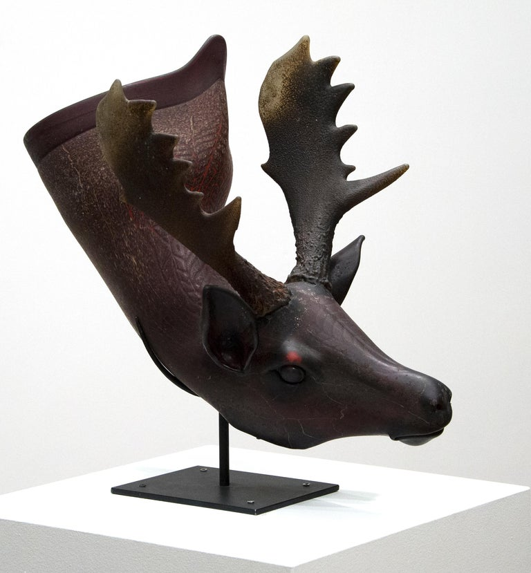 William Morris Figurative Sculpture - Fallow Deer Situla
