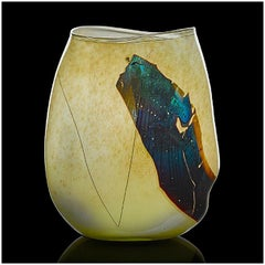 William Morris Original Hand Blown Glass Shard Vessel Vase Signed Modern Artwork