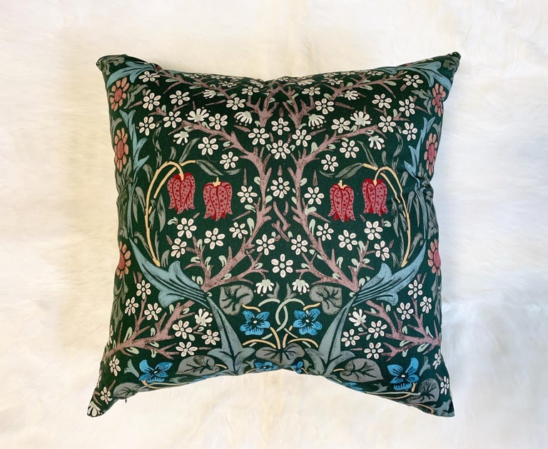 Contemporary William Morris Blackthorn Pillow For Sale