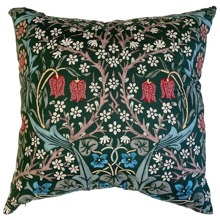 William Morris Blackthorn Pillow For Sale