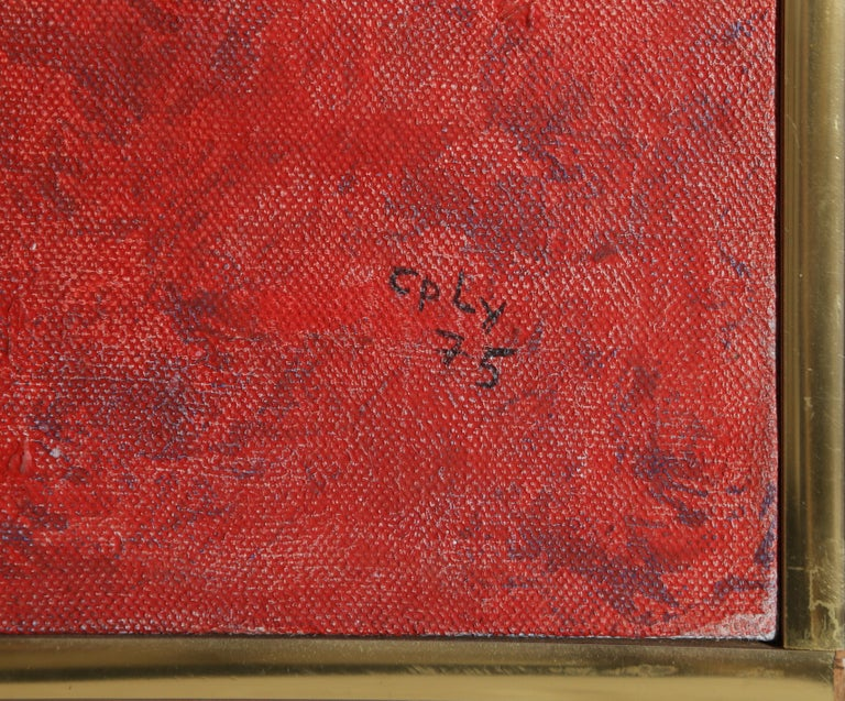 Firecracker - Brown Abstract Painting by William Nelson Copley