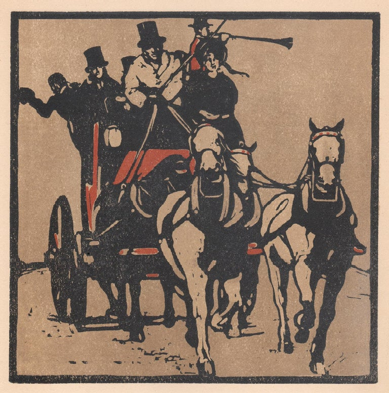 'August' - Coaching, William Nicholson late 19th century sporting print - Victorian Print by William Nicholson