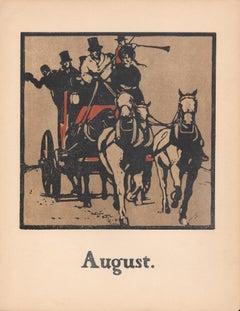 'August' - Coaching, William Nicholson late 19th century sporting print