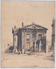 Clarendon Building Oxford, William Nicholson lithograph 1905 Stafford Gallery