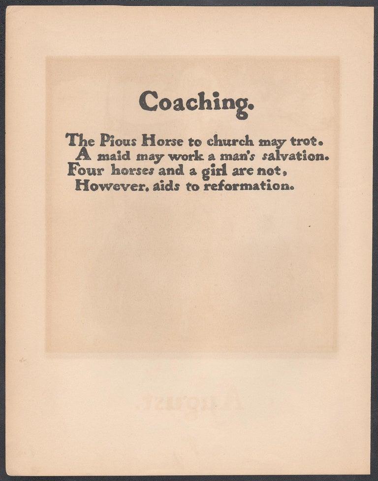 'July' - Archery, William Nicholson late 19th century sporting print - Beige Print by William Nicholson
