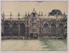 University College, Oxford, William Nicholson lithograph 1905 Stafford Gallery