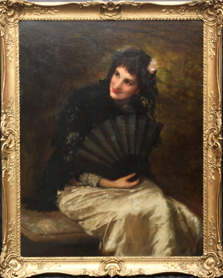 Victorian Elegance 1 portrait Painting by Laura Heggestad  Victorian Painting Portrait Artists