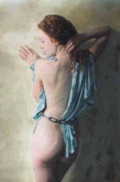 The Quiet Muse, Painting, Oil on Canvas