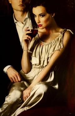 An Evening Romance, Painting, Acrylic on Canvas