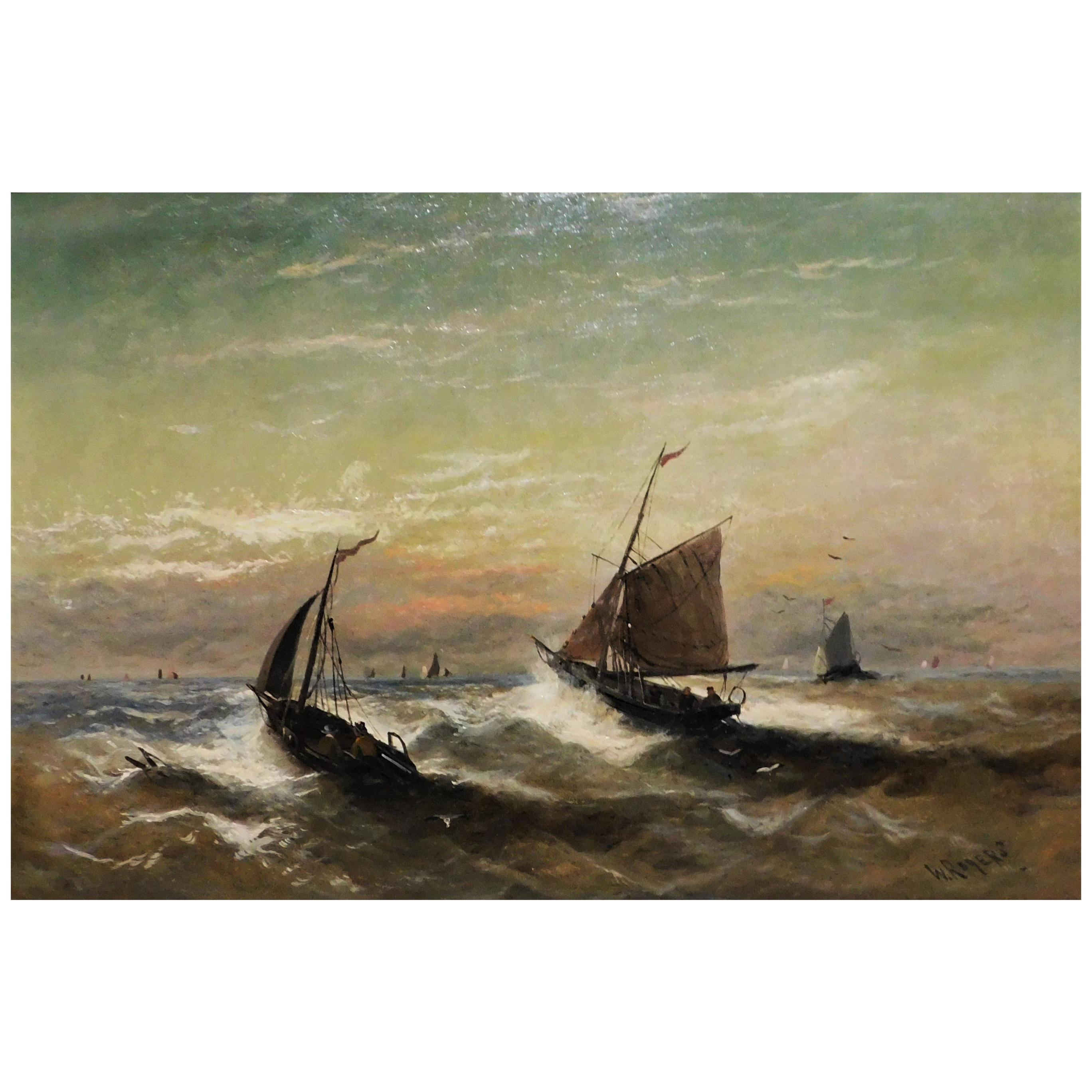 William P. Rogers Oil on Canvas Painting
