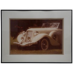 William Plante Signed Vintage Large Folio Automobile Photo of 1935 Aurburn