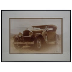William Plante Signed Vintage lg. Golio Automobile Photo of 1929 Packard Phaeton