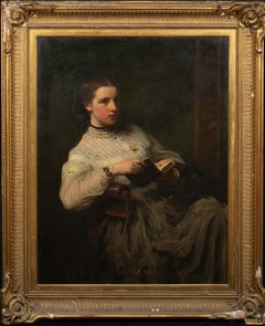 Portrait Of Mrs Malcolmson Holding A Book, 19th Century