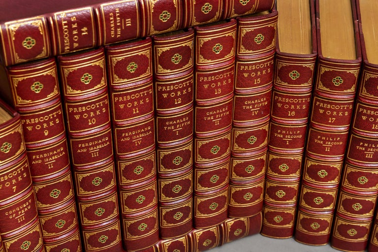 22 Volumes. William Prescott. The Works.