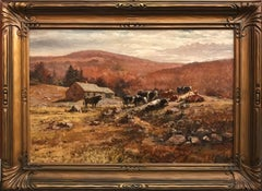 New Hampshire Landscape with Cattle Grazing