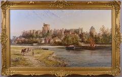 19th Century Landscape oil painting of Windsor Castle