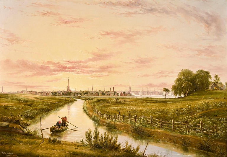 William Rickarby Miller Landscape Painting - New York from Hoboken