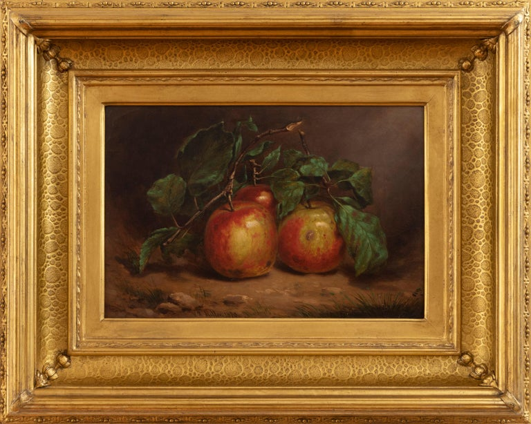 Study of Apples on a Bough - Painting by William Rickarby Miller