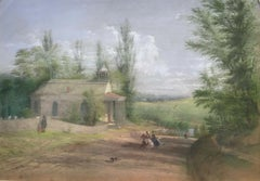 The Old Dutch Church, Sleepy Hollow, NY by William Rickarby Miller (1818-1893)