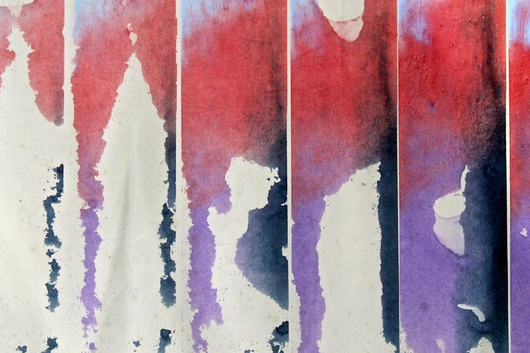 American William Ridenhour '1941-2010' 1972 Watercolor on Paper For Sale