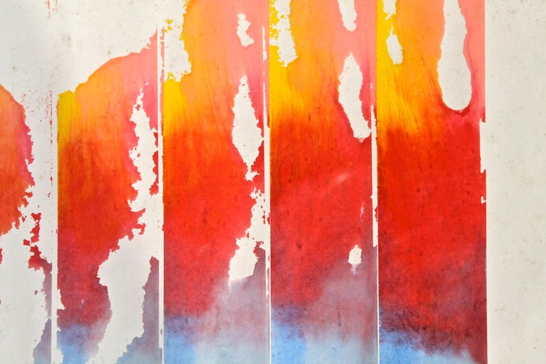 Hand-Painted William Ridenhour '1941-2010' 1972 Watercolor on Paper For Sale