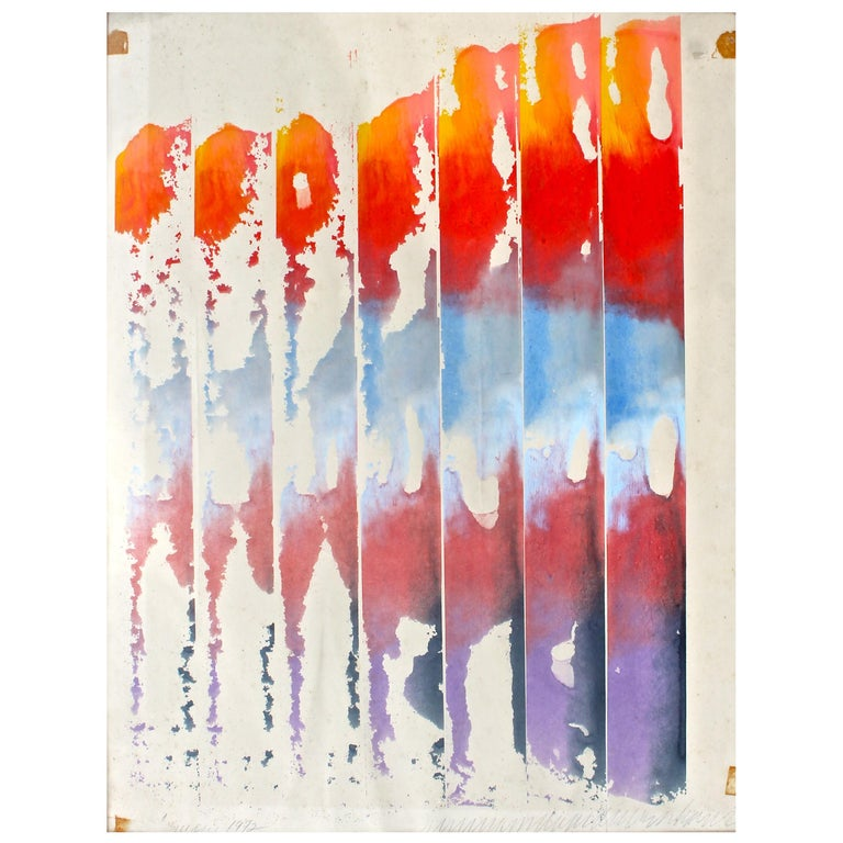 William Ridenhour '1941-2010' 1972 Watercolor on Paper For Sale
