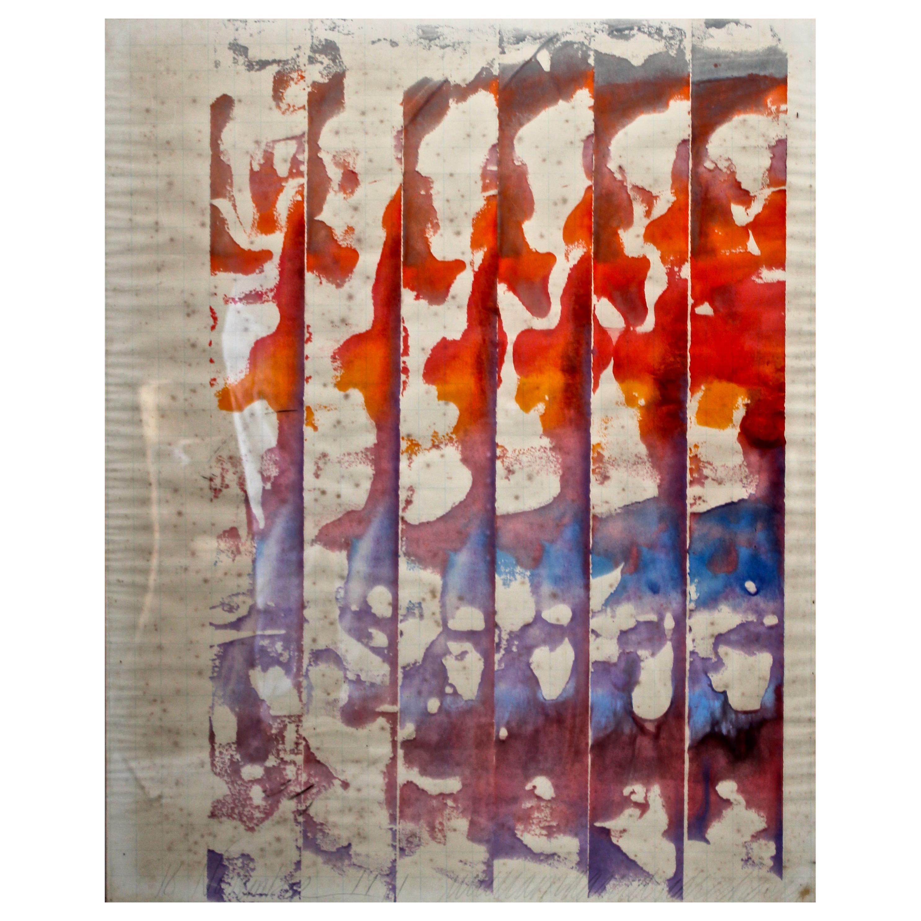 William Ridenhour '1941-2010' 1972 Watercolor on Paper