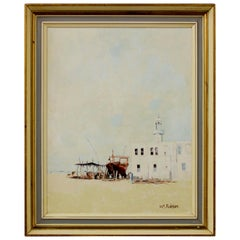 William Robson, Dock Watercolour Painting