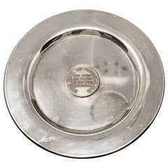 William Rogers Silverplate with Shipbuilding Medallion Plaque