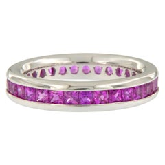 William Rosenberg 18 Karat Gold Hot Pink Sapphire Ring 2.50 Carat Total Weight