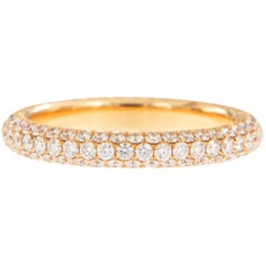 William Rosenberg 18 Karat Rose Gold 1.51 Carat Pave' Diamond Eternity Ring