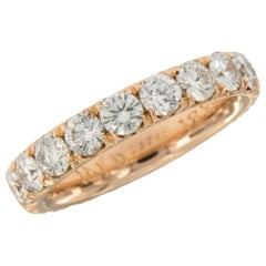 William Rosenberg 18 Karat Rose Gold D-E VVS Diamond Eternity Band 2.43 Carat