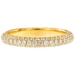William Rosenberg 18 Karat Yellow Gold 1.49 Carat Pave' Diamond Eternity Ring