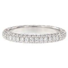 William Rosenberg Platinum 1.49 Carat Pave' Diamond Eternity Ring