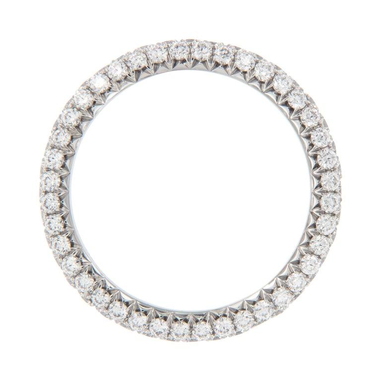 Contemporary William Rosenberg Platinum 1.49 Carat Pave' Diamond Eternity Ring For Sale