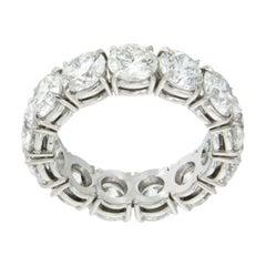 William Rosenberg Platinum Diamond Eternity Ring 6.84 Carat