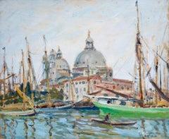 Basilica di Santa Maria della Salute - Grand Canal, Venice - Oil by W S Horton