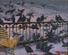 Birds on a Balcony, Switzterland, American Impressionism